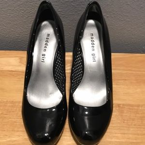 Madden Girl patent leather heels. Good condition.